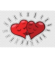 Kiss hearts Valentines vector image