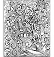 Flower pattern engraving scroll motif for vintage vector image