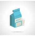 Milk blue pack flat color icon vector image
