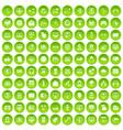 100 internet icons set green circle vector image vector image