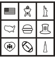 assembly stylish black and white icons Canada vector image vector image