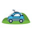 autonomous car technology vector image vector image