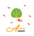 autumn season birds and tree background ima vector image