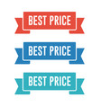 best price ribbon banners vector image vector image