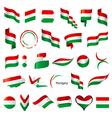 biggest collection flags hungary vector image