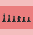 black chess piece icons set vector image vector image