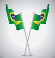 Brazil Waving Flag vector image