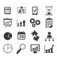business analyst marketing icon set vector image