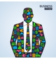 Business concept icons person vector image vector image