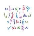 Calligraphic script alphabet letters set font vector image