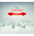 Christmas winter landscape background vector image vector image