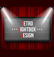 creative of glowing cinema vector image vector image