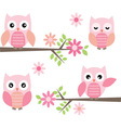 Cut Owl and Branches vector image vector image