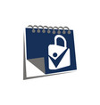 date lock solution vector image