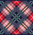 diagonal tartan seamless texture in various colors vector image vector image