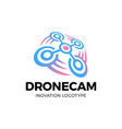 drone logo drone with photo camera design vector image vector image