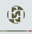 E E monogram logo vector image vector image