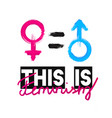 fashion slogan this is feminism feminist slogan vector image vector image