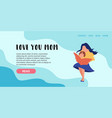 flat banner landing page mother vector image