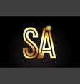 gold alphabet letter sa s a logo combination icon vector image vector image