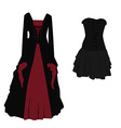 Gothic dress set vector image
