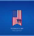 hanging flag on the day of americas veterans vector image vector image