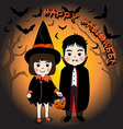 Happy Halloween and young vector image vector image