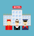 hotel services and travel vector image vector image