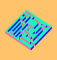 isometric maze labyrinth solution concept vector image vector image