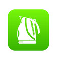 kettle power icon green vector image vector image