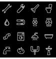line plumbing icon set vector image