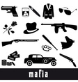 mafia criminal black symbols and icons set eps10 vector image vector image