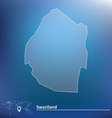 Map of Swaziland vector image vector image