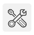 mechanics icon black vector image