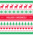 merry christmas in scottish gaelic greetings card vector image vector image