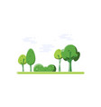 nature cartoon park vector image