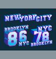 new york city - brooklyn - nyc t-shirt print vector image vector image