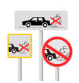 no idling road sign symbol vector image vector image