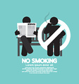 No Smoking Sign At Public Place vector image vector image