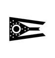 ohio oh state flag united states america black vector image vector image