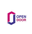 open door icon for house repair company emblem vector image