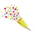 party cracker colorful festive shooting confetti vector image