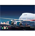Passenger Airplane Taking Off vector image vector image
