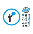 Person Idea Flat Icon with Bonus vector image vector image