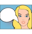 pop art a woman and comic vector image vector image