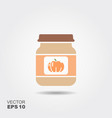 pumpkin baby food smoothies vegetable puree vector image vector image