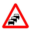 queuing traffic sign isolated vector image vector image