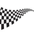 race flag icon design vector image vector image