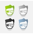 realistic design element 3d glasses vector image
