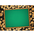 school empty blackboard vector image